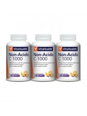 VitaHealth Non-Acidic C 1000 , 60 Tabs, Pack of 3