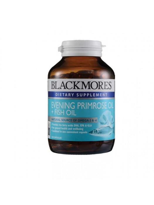 Blackmores Evening Primrose oil + Fish Oil, 120 caps