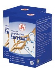 Three Legs Tongkat Ali Plus, Eurykuat, 60 Capsules (Twin Pack)