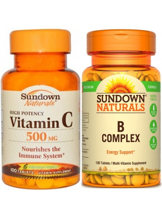 Anti-Stress Bundle 1: Sundown Naturals Vitamin C and B Complex