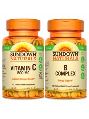 Anti-Stress Bundle: Sundown Naturals Vitamin C and B Complex