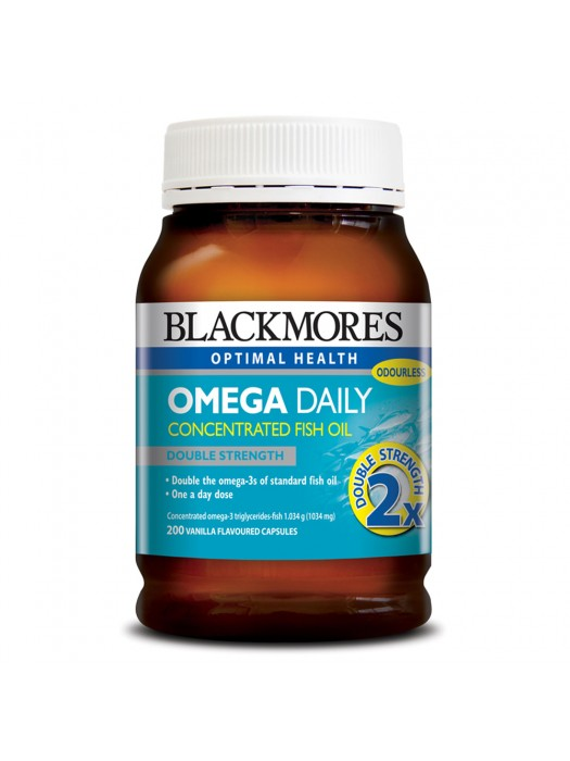 Blackmores Omega Daily Double Strength Fish Oil, 200 Caps
