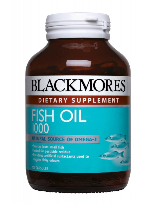Blackmores Fish Oil 1000mg, 120 caps, Pack of 3