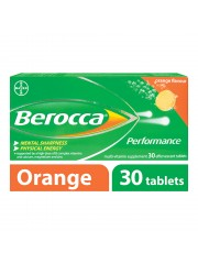 Berocca Performance Vitamin B Effervescent, Orange, 30 Tablets, Pack o ...