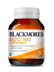 Blackmores Bio C Chewable 500mg, 50 tabs, Pack of 3