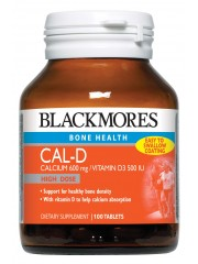 Blackmores Cal-D Calcium 600 mg/Vitamin D3 500 IU, 100 Tablets