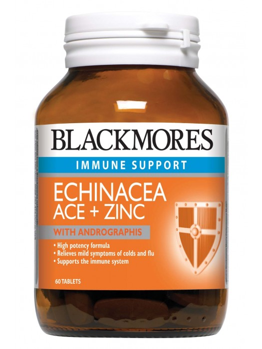 Blackmores Echinacea Ace+Zinc with Andrographis, 60 Tablets