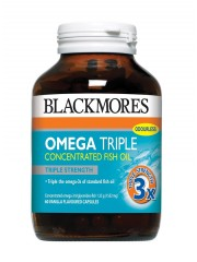 Blackmores Omega Triple Strength Concentrated Fish Oil, 60 caps