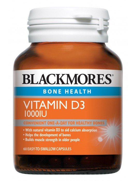 Blackmores Vitamin D3 1000IU, 60 caps, Pack of 3