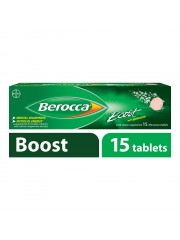 Berocca Boost Vitamin B+Guarana Energy Effervescent, 15 Tablets, Pack  ...