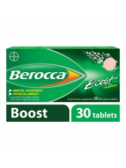Berocca Boost Vitamin B+Guarana Energy Effervescent, 30 Tablets, Pack  ...