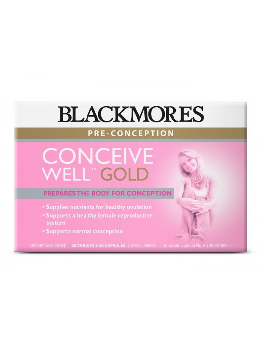 Blackmores Conceive Well Gold, Prepares the body for conception, 28 Tablets + 28 Capsules
