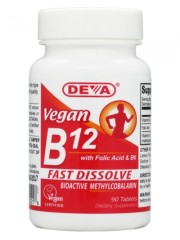 DEVA Vegan Vitamin B12, 90 tabs (2 bottles)