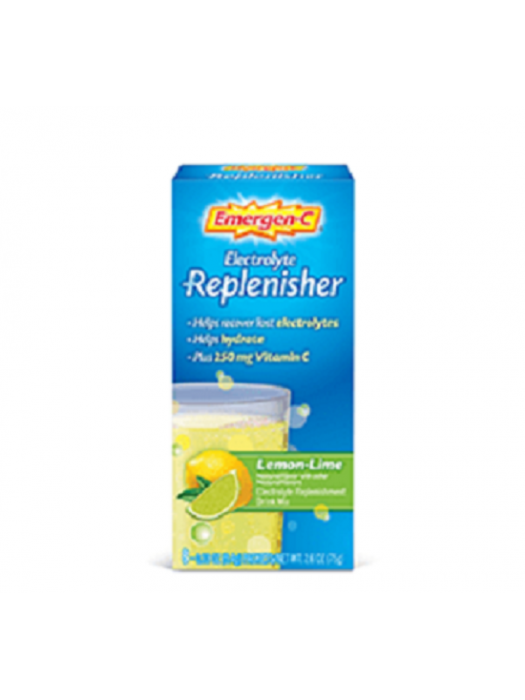 Emergen-C Electrolyte Replenisher Lemon-Lime, 8 sachets