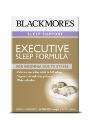 Blackmores Executive Sleep Formula, For Insomnia due to Stress, 28 Tab ...