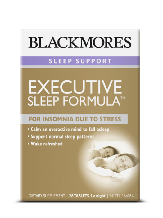 Blackmores Executive Sleep Formula, For Insomnia due to Stress, 28 Tablets-1 a night