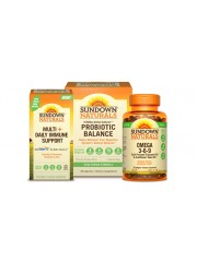 Adult's Well Being Pack: Sundown Naturals Multi-Daily Immune Support + ...