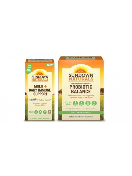 Adult's Well Being Pack: Sundown Naturals Multi +Daily Immune Support & Probiotic Balance