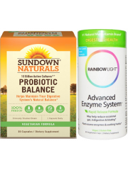 Healthy Digestion Pack: Sundown Naturals Probiotic Balance & Rainb ...