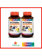 Holistic Way B Complex plus Vitamin C 500mg, 60 VegiCaps, Pack of 2
