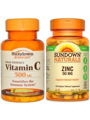 Immunity Bundle 2: Sundown Naturals Vitamin C and Zinc