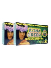 Kona Green Spirulina Green Tea, 2 Boxes (20 sachets per box)
