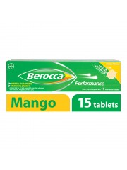 Berocca Performance Vitamin B Effervescent, Mango, 15 Tablets, Pack of ...