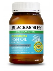 Blackmores, Odourless Fish Oil Mini Caps, Half size Capsules, 400 Caps ...