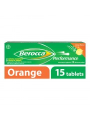 Berocca Performance Vitamin B Effervescent, Orange, 15 Tablets, Pack o ...