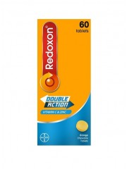 Redoxon Double Action Chewables, Orange, 60 Tablets,  Pack of 2