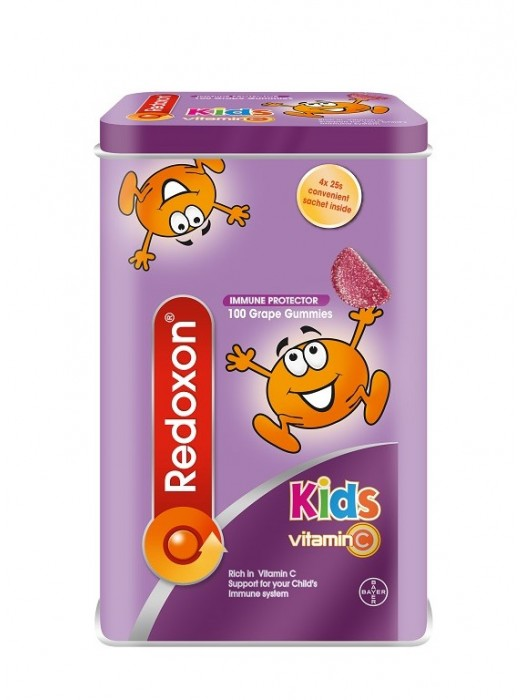 Redoxon Kids Vitamin C Gummies, Grape, 100s, Pack of 2