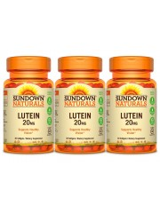 Sundown Naturals Lutein 20mg, 30 sgls, Pack of 3
