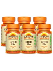 Sundown Naturals Lutein 20mg, 30 sgls, Pack of 6