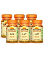 Sundown Naturals 5-HTP 200mg, 30 Caps, Pack of 6
