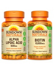 Healthy Skin: Sundown Naturals Alpha Lipoic Acid & Biotin
