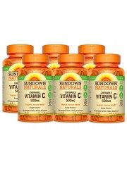 Sundown Naturals Vitamin C 500mg, 100 chewable tabs (Orange), Pack of  ...
