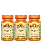 Sundown Naturals CoQ10 100mg, 40 sgls, Pack of 3