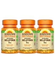 Sundown Naturals Dissolvable Melatonin 5mg, 90 Microlozenges, Pack of  ...