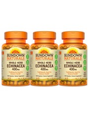 Sundown Naturals Echinacea 400mg, 100 caps, Pack of 3