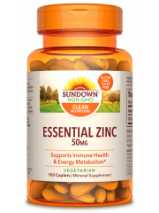 Sundown Naturals Essential Zinc 50mg, 100 Caplets