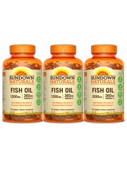 Sundown Naturals Fish Oil 1200mg, 100 sgls, Pack of 3