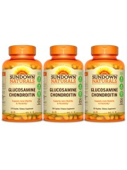 Sundown Naturals Glucosamine Chondroitin, 120 Caplets, Pack of 3