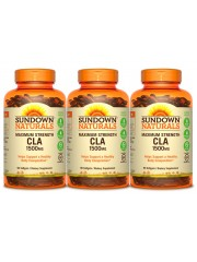Sundown Naturals Maximum Strength CLA 1500mg, 90 sgls, Pack of 3