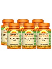 Sundown Naturals Melatonin 5mg, 90 tabs, Pack of 6