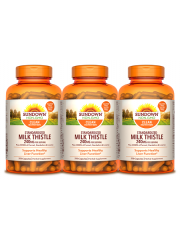 Sundown Naturals Milk Thistle 240mg, 250 caps, Pack of 3