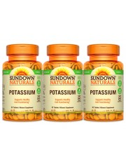 Sundown Naturals Potassium 99mg, 90 tabs, Pack of 3
