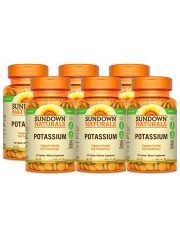Sundown Naturals Potassium 99mg, 90 tabs, Pack of 6