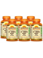 Sundown Naturals St. John's Wort 300mg, 150 caps, Pack of 6