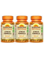 Sundown Naturals Stress Formula, 60 caps, Pack of 3