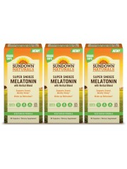 Sundown Naturals Super Snooze Melatonin, 90 caps, Pack of 3